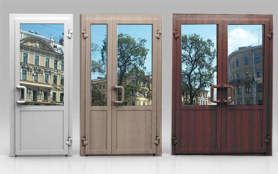 двери пвх входные офисные стоимость